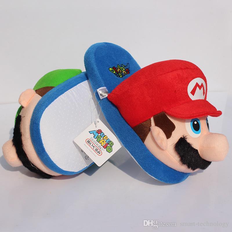 Super Mario Bros Mario Plush slipper Home Winter Indoor Warm Slippers For Adult 27cm