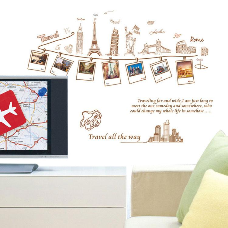 Pvc removable large wallpaper world map wall sticker poster home pvc removable large wallpaper world map wall sticker poster home decoration travel photo frame wall decals wall paper art decorating with wall decals gumiabroncs Images
