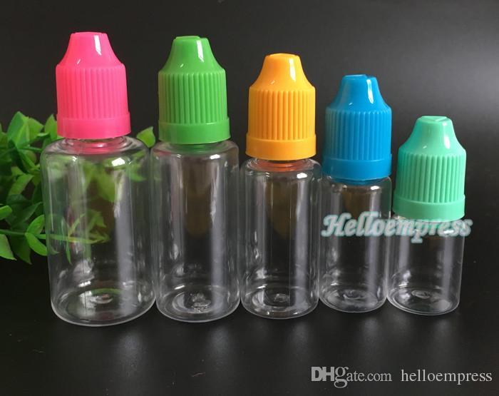 Fábrica Colorida Agulha Garrafa 30 ml Eliquid EGO Fumar Saúde Garrafas Conta-gotas De Plástico Agulha Cigarro Eletrônico DHL livre 1OZ garrafas