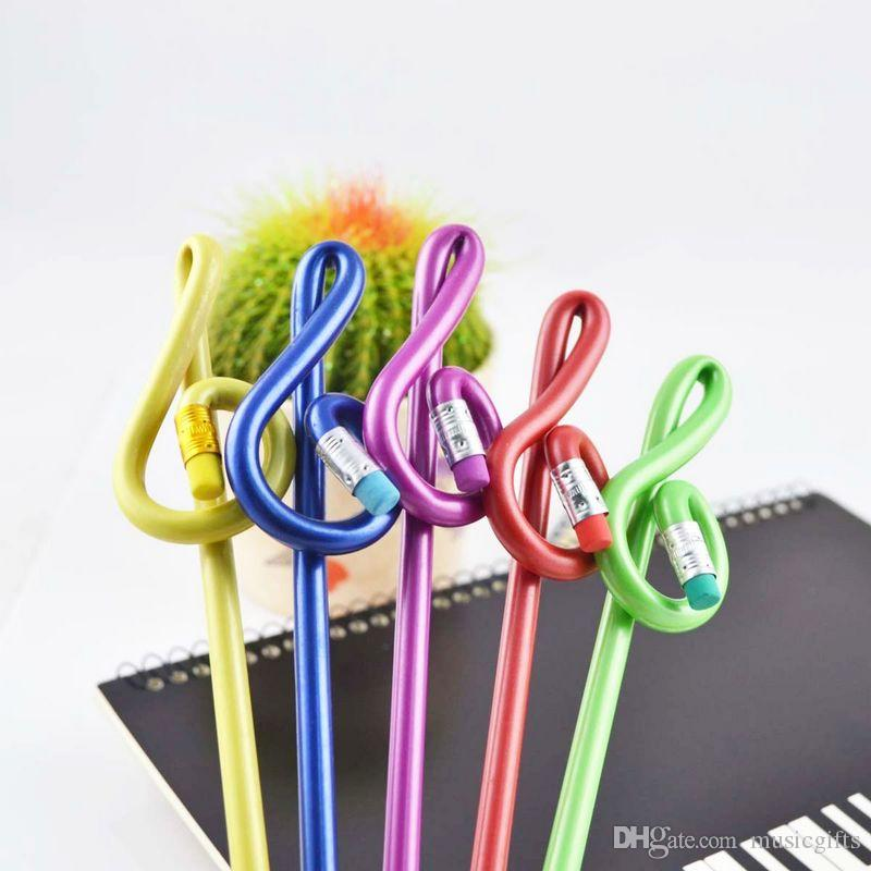 Stationery Gifts High Notes Pencil Children Pencil Art Pencils Fashion Music Sationery for Students Color Mixed
