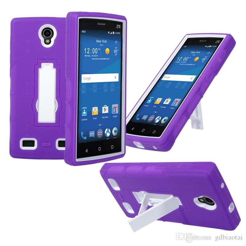 New Arrival Cell Phone Case Shockproof Heavy Duty With Kickstand For ZTE MAX 2 TPU+PC 2 in 1 case