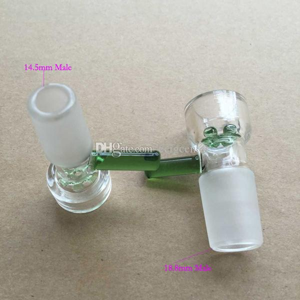 Direct Manufacturer 18.8MM/14.5MM Assorted Glass Bowl With Handle Water Smoking Pipe Accessory Supply For Glass Pipe Bong