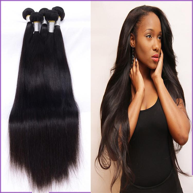Strong Double Weft Straight Human Hair Extensionsunprocessed