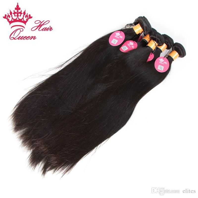 クイーンヘア製品インドの聖母の人間の髪の伸び直ストレート2本/ロットの販売無料の販売