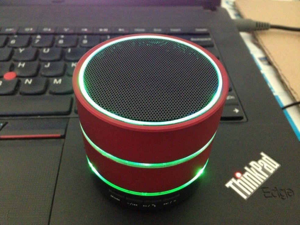S09 LED Mini Portable Wireless LED Bluetooth Speaker Hi Fi Music Player Micro SD TF Micro USB Earphone Port Stage Party Speakers LED Light