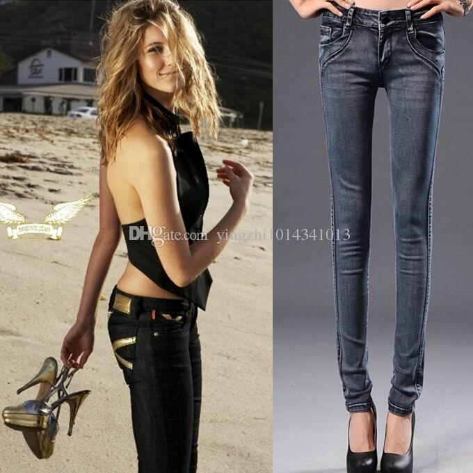 2017 Womens Skinny Robin Jeans Luxury Italy Fashion Biker Jeans ...