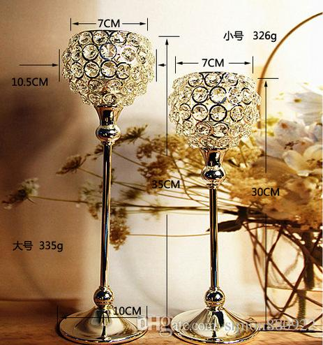 Wedding Crystal Globe Votive Candle Holder Metal Candle Stand With ...