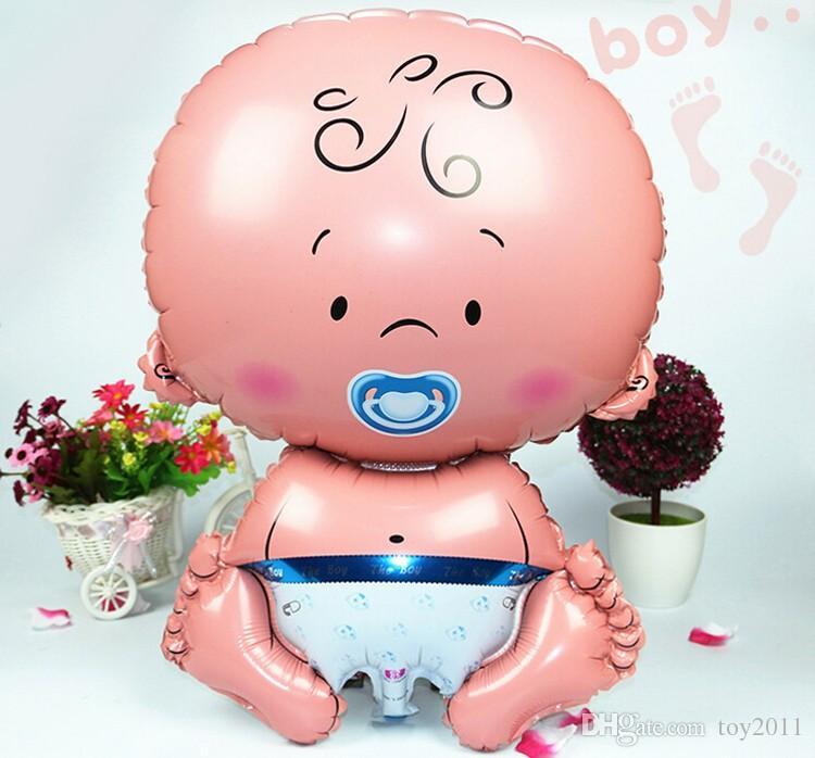 Nowy 2 SZTUK = 1 zestaw dziecięcy smoczek anioł baby folia balony helu Globs Balloon Party Dekoracji Kulki Klasyczne Zabawki