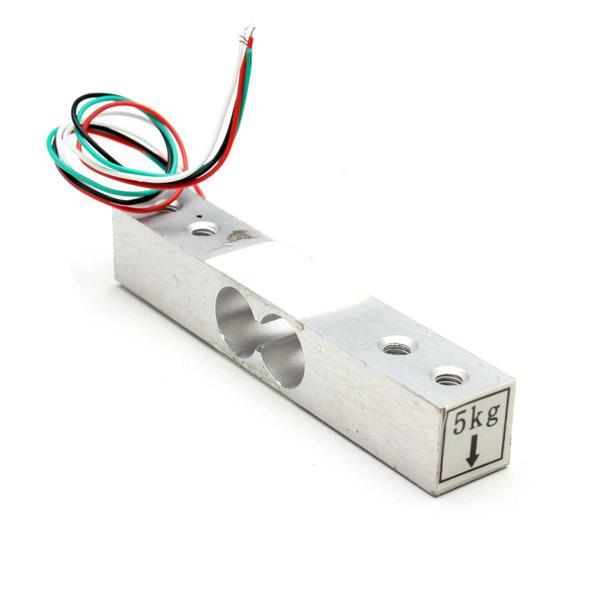Sensor de peso portátil Célula de carga Pesaje del sensor Escala electrónica 5 KG Voltaje del conductor 5-10 V orden $ 18no track
