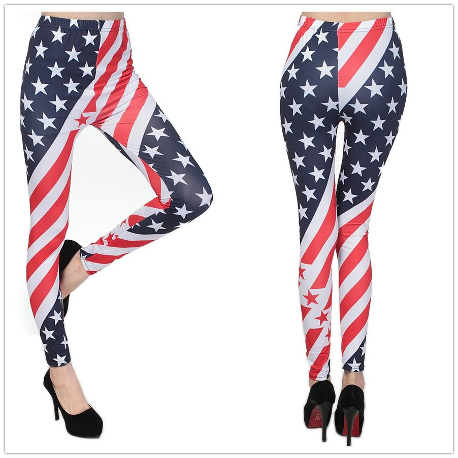 2017 2016 Sexy Usa American Flag Funky Leggings Women'S Digital ...