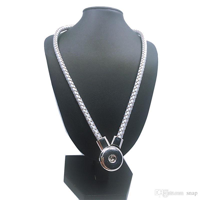 원래 가죽 새로운 정품 가죽 DIY 스냅인 버튼 매력 자석 걸쇠 펜던트 목걸이 여자 남성에 맞게 18mm 버튼