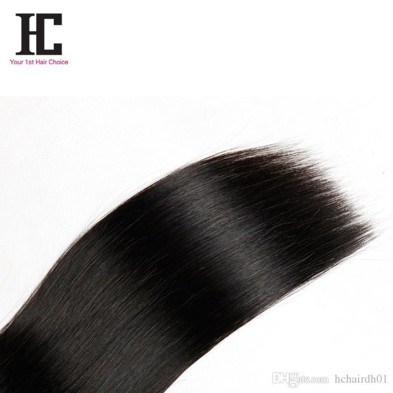Top Meilleur Brésilienne Vierge Cheveux Raides 5 Bundles Brésilienne Droite Cheveux Humains Vison Brésilienne Armure de Cheveux HC Cheveux Produits
