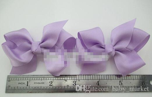 3.3-3.5 '' Ribbon Bows with Clip,solid color bows clip,baby hair bow,boutique hair accessories girls hair clips