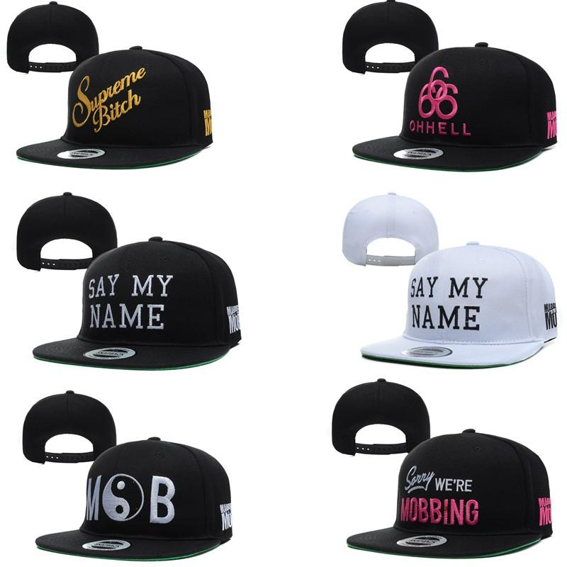 2016 HOT New MARRIED TO THE MOB Snapbacks Hats SAY MY NAME BITCH Panel Hat  Men Woman Baseball Cap Sorry We Re Mobbing Caps UK 2019 From Fortheworld5 84804febd0e