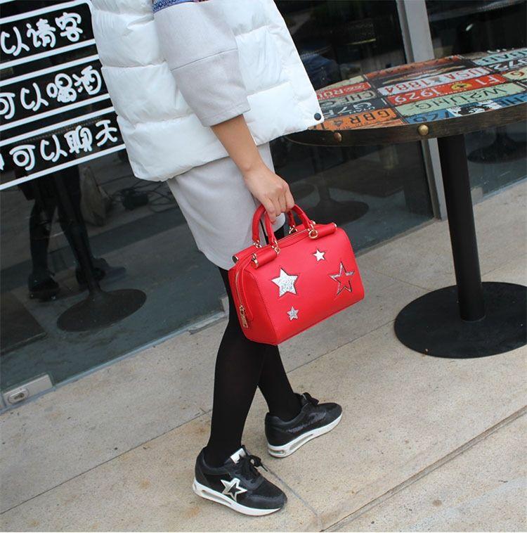 ESTRELLA PU Messager Bag - Casual Bolsa de hombro Bandoleras de las nuevas mujeres bolso de viaje Bolson