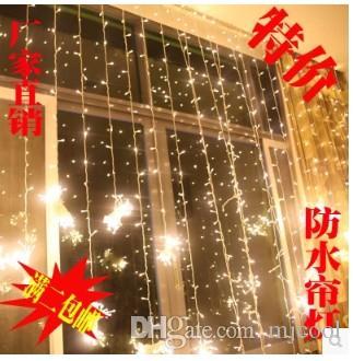 10 m * 3 m1000 llevó la lámpara de la cortina de la lámpara del festival de la lámpara de Navidad AU Reino Unido EE. UU. Enchufe de la UE 110 v-220 v Impermeable