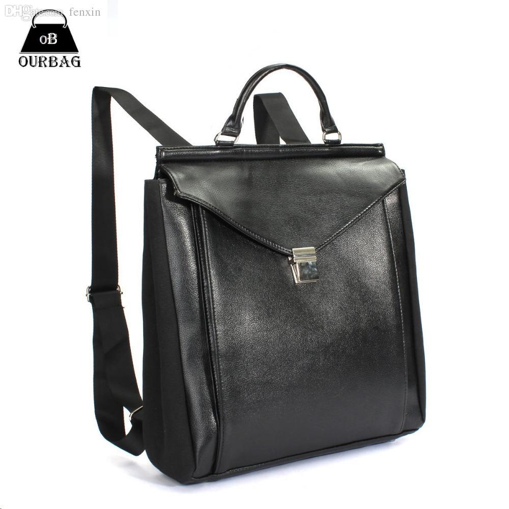 0c591487c42 Wholesale-2015 Fashion Mens Backpacks Business Design Metal Square ...