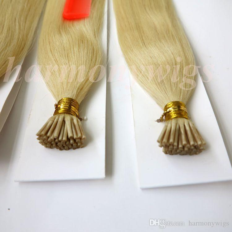 """100g 100Strands Pre bonded i tip Stick hair extensions Brazilian human hair 18"""" 20"""" 22"""" 24"""" #60 Indian Hair products"""
