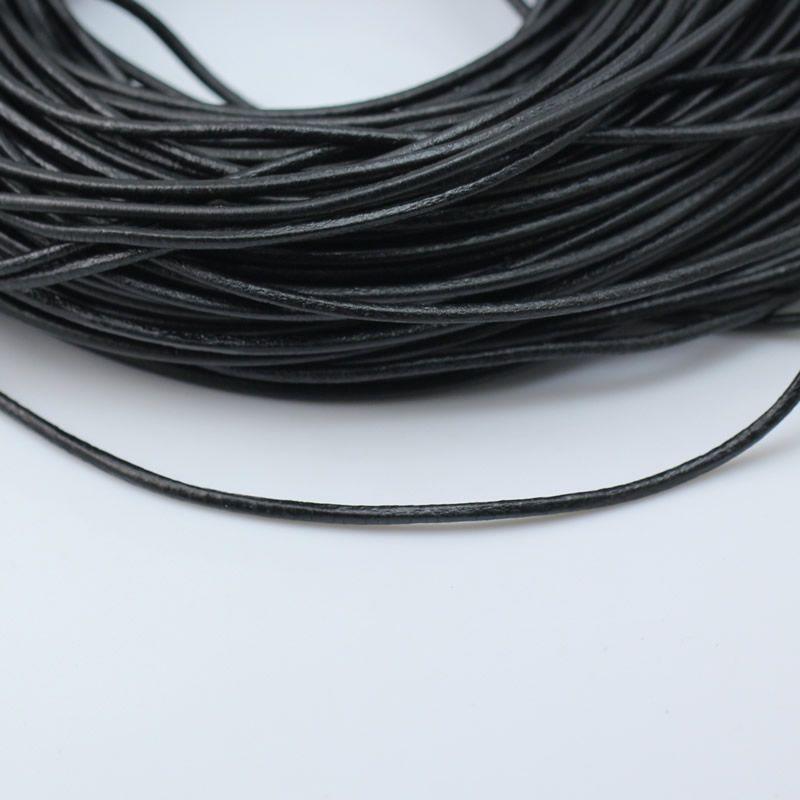 Beadsnice черный кожаный шнур натуральная кожа шнур толщина 3 мм для DIY ювелирные изделия ожерелье браслет делая строку ID 3453
