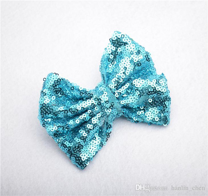 2018 Rushed Mix Color Hair Bows Zl Hot Little Girls Hair Clips Children Flash Sequins Cute Baby Bow Accessories Headbands Zl76