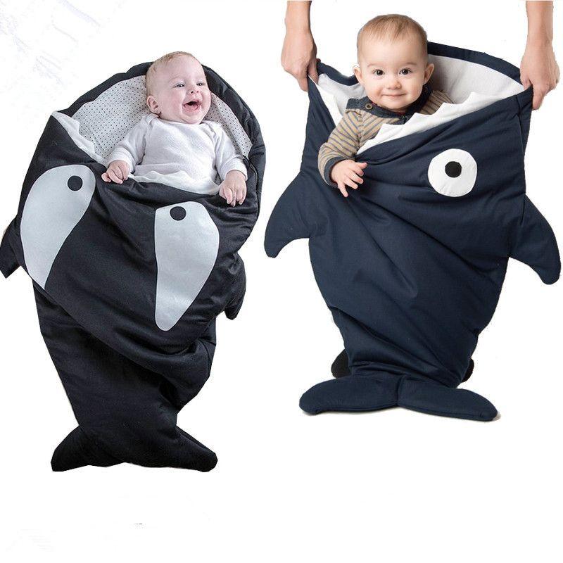 Red Black Grey Cartoon Shark Sleeping Bag Newborns Sleeping Bag - Sleeping bag shark