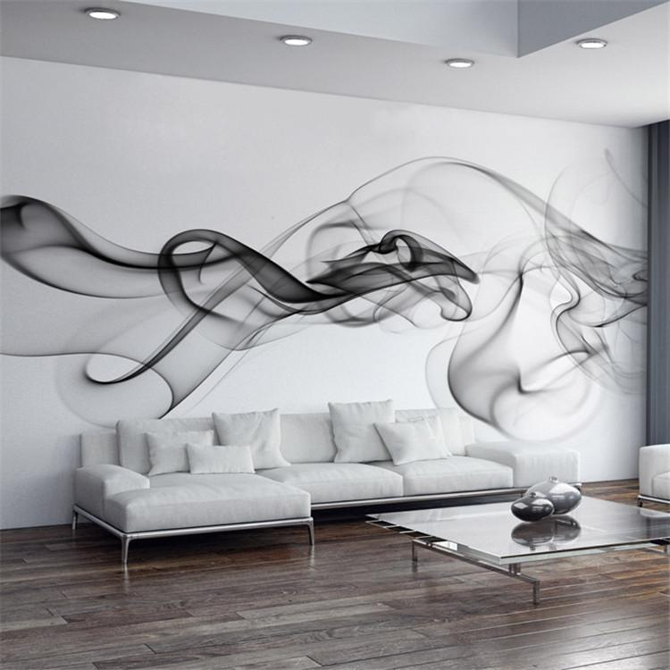 Smoke Fog Photo Wallpaper Modern Wall Mural 3d View Wallpaper Designer Art  Black U0026 White Room Decor Bedroom Office Living Room Elegant Art  Screensavers ... Part 27