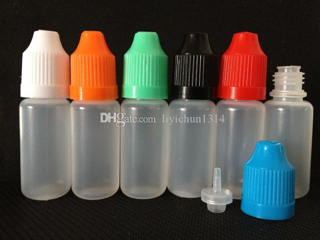 Tanie 500 sztuk 5ml 10ml 15ml 20ml 30ml 50ml Pusty E Potrzebna e Sok z tworzyw sztucznych butelki kroplomędne z czapkami z butelkami dla dzieci i wskazówki igły