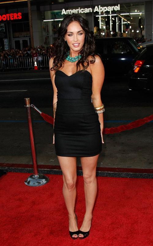 Vestidos negros sexy Vestidos de cariño Celebrity Megan Fox Algodón elástico Mini Imágenes reales reales