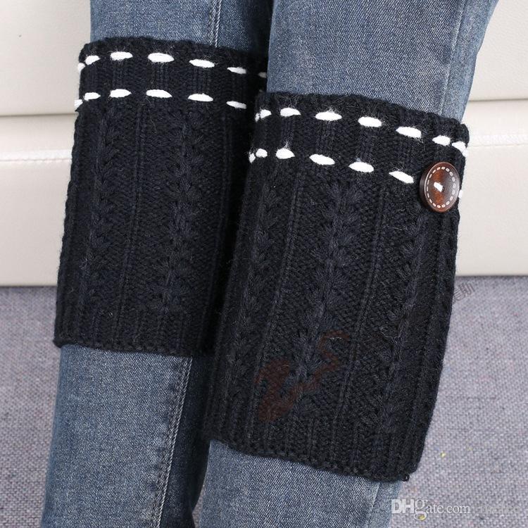 Free ups Schiff Frauen Häkeln strickte Beinwärmer hotsale Stiefel Stulpe Knopf unten Strick Ballett handgefertigte Beinwärmer Weihnachten Stiefel Socken Abdeckungen