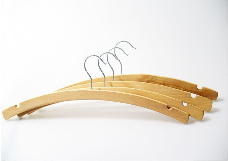 natural moon style arched wooden hanger for shirts 10 pieces lot