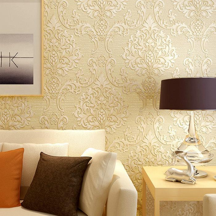 Thick European 3d Wallpaper Luxurious Floral Embossed Wallpaper ...