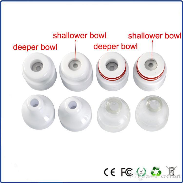 Vaporizzatore ciotola di ceramica di vetro 510 atomizzatore di ciambella in ceramica senza bobina senza stoppino 0.7ohm sub ohm serbatoio cera vaporizzatore penna atomizzatore rda mod