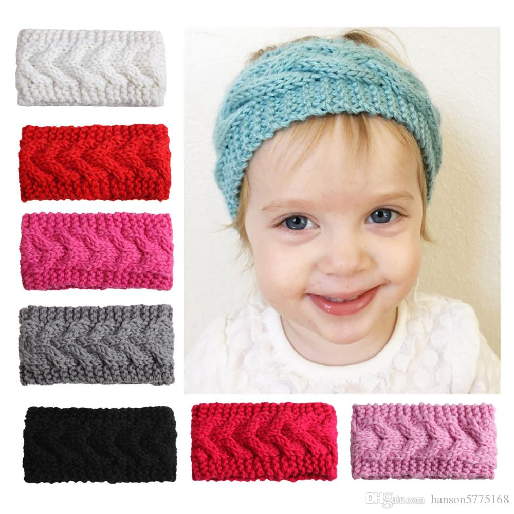 Wide Crochet Baby Headwear Ear Warmer For Winter Plum Knit Headband ...