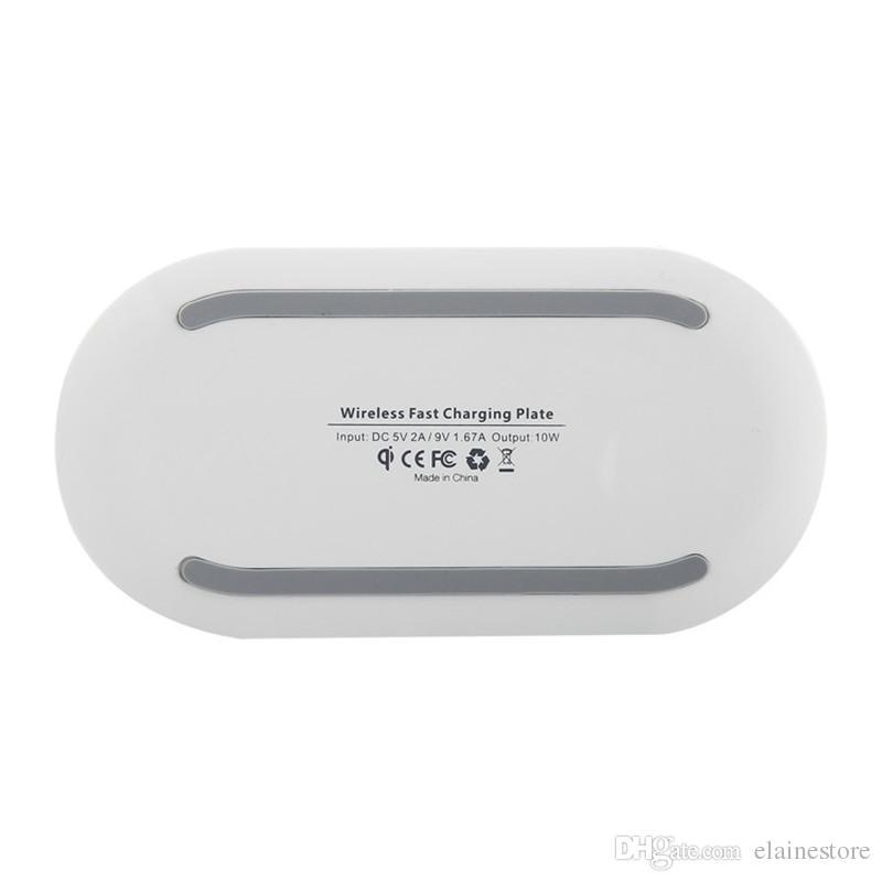 Drahtlose Schnelle Ladegerät-Platte Q100 Qi Wireless Mobiltelefon-Ladegerät mit LED-IDICator für iPhone X 8 Samung S8plus S8 mit Einzelhandelspaket