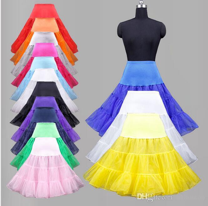 26-50 s Retro Sottogonna Swing Vintage Petticoat Fantasia Net Skirt Sottogonna Swing Vintage Rockabilly Tutu Spedizione Gratuita 3 Strati A Buon Mercato