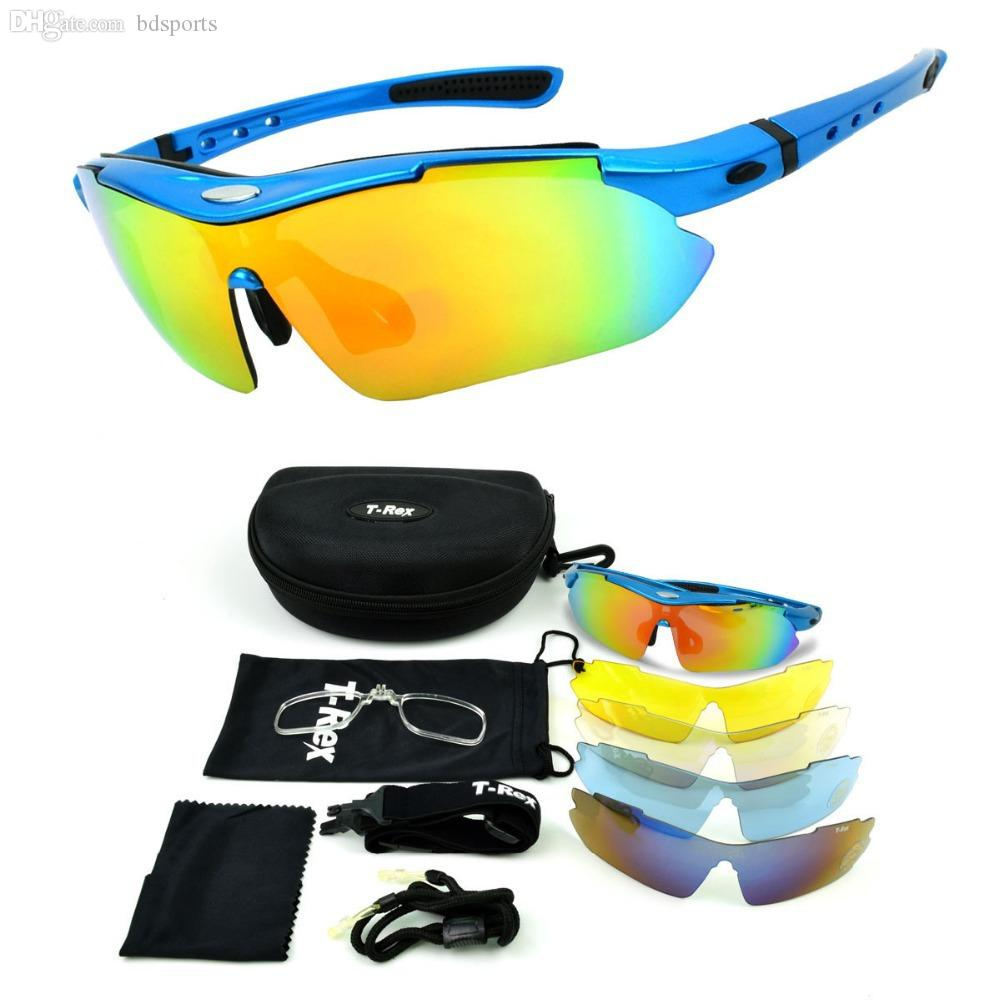 db669091155 Wholesale-Free shipping Professional Polarized Cycling Glasses Bike Racing  Goggles Outdoor Sports Bicycle Sunglasses UV 400 With 5 Lens
