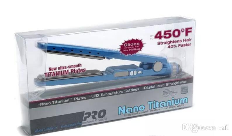 Haute Qualité PRO 450F 1 1/4 plaques bébé liss plaque Fer à Lisser Fers à Défriser Fer Plat DHL livraison rapide navire