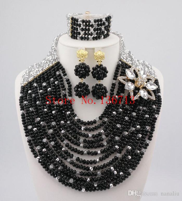 2018 Latest Fashion African Wedding Beads Jewelry Set Popular ...