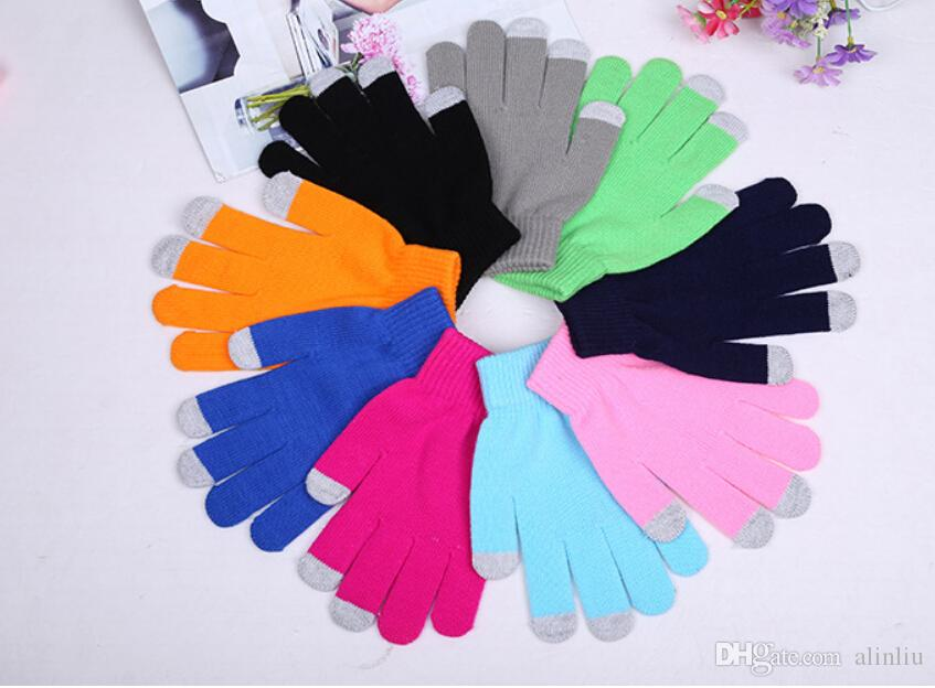 2019 New Colorful Winter Warm Touch Cotton Gloves