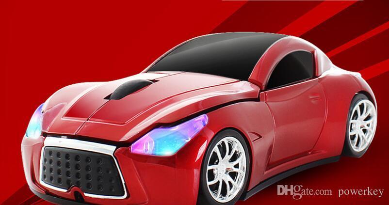Infiiti sem fio em forma de carro esportivo mouses 2.4 Ghz 1600 DPI 3D 3 botões jogo mouse de jogos para computador PC laptop desktop moda legal