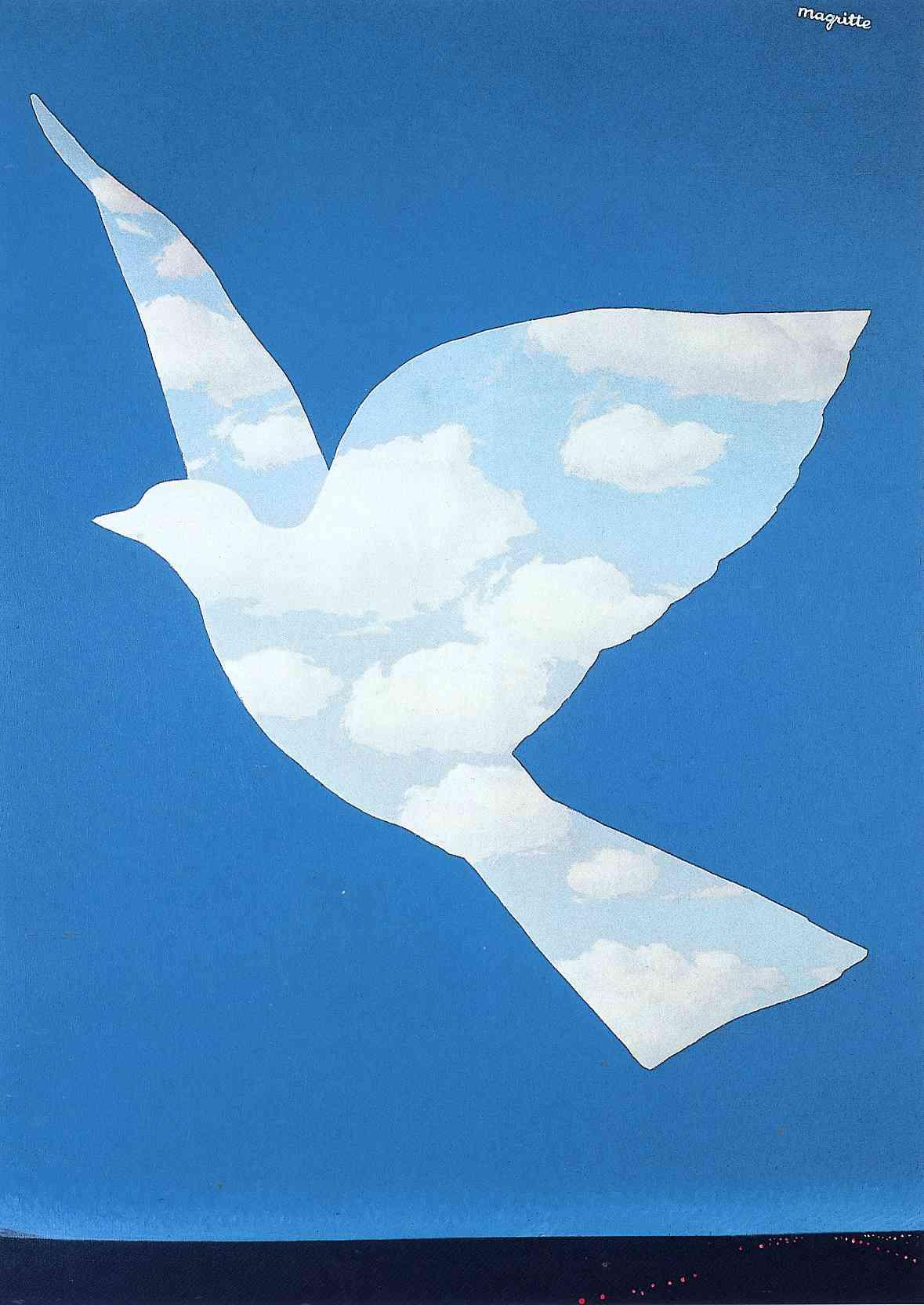 Wall Art The Promise Rene Magritte Painting Canvas High Quality Hand