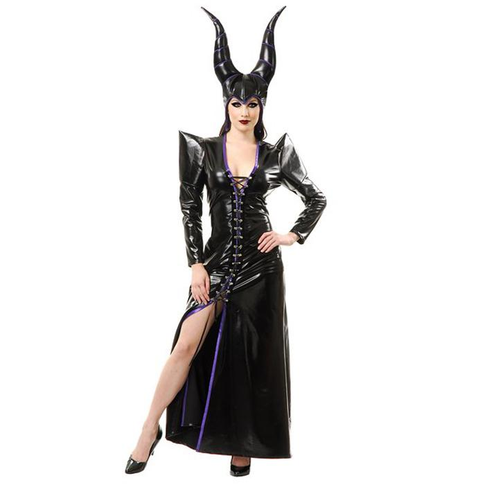 Maleficent Costume Adult Women Black Evil Witch Dress Halloween Costumes For Women Pu Faux Leather Sexy Maleficent Dress Party Kid Group Halloween Costumes ...  sc 1 st  DHgate.com : evil halloween costume  - Germanpascual.Com