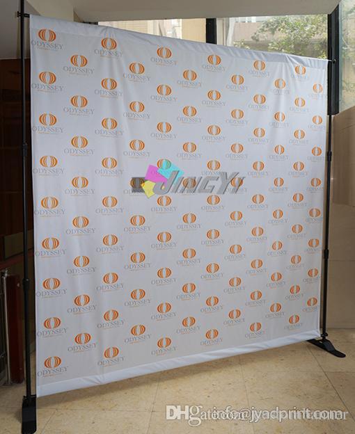 Soportes de telón de fondo / soportes de banner / soporte de exhibición de fondo ajustable / banner de 2 piezas con envío gratuito