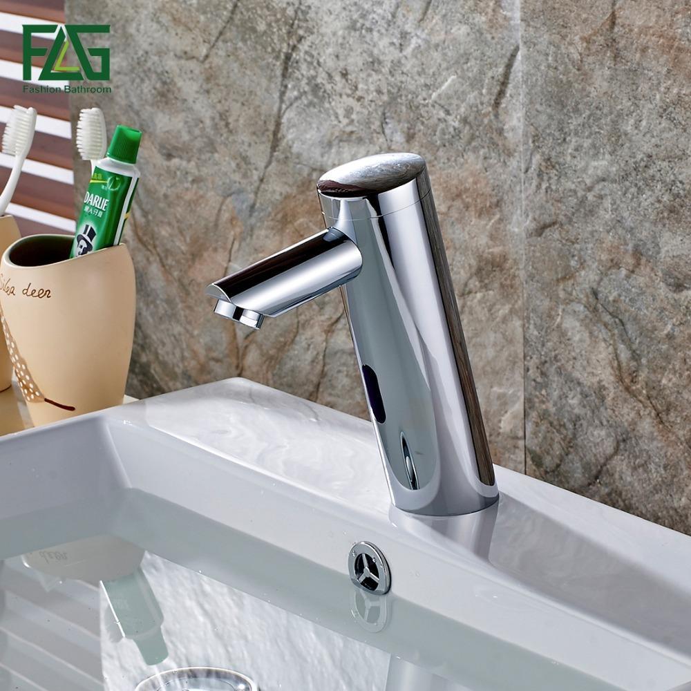 Discount Water Saving Basin Faucet Chrome Cast Battery Power ...