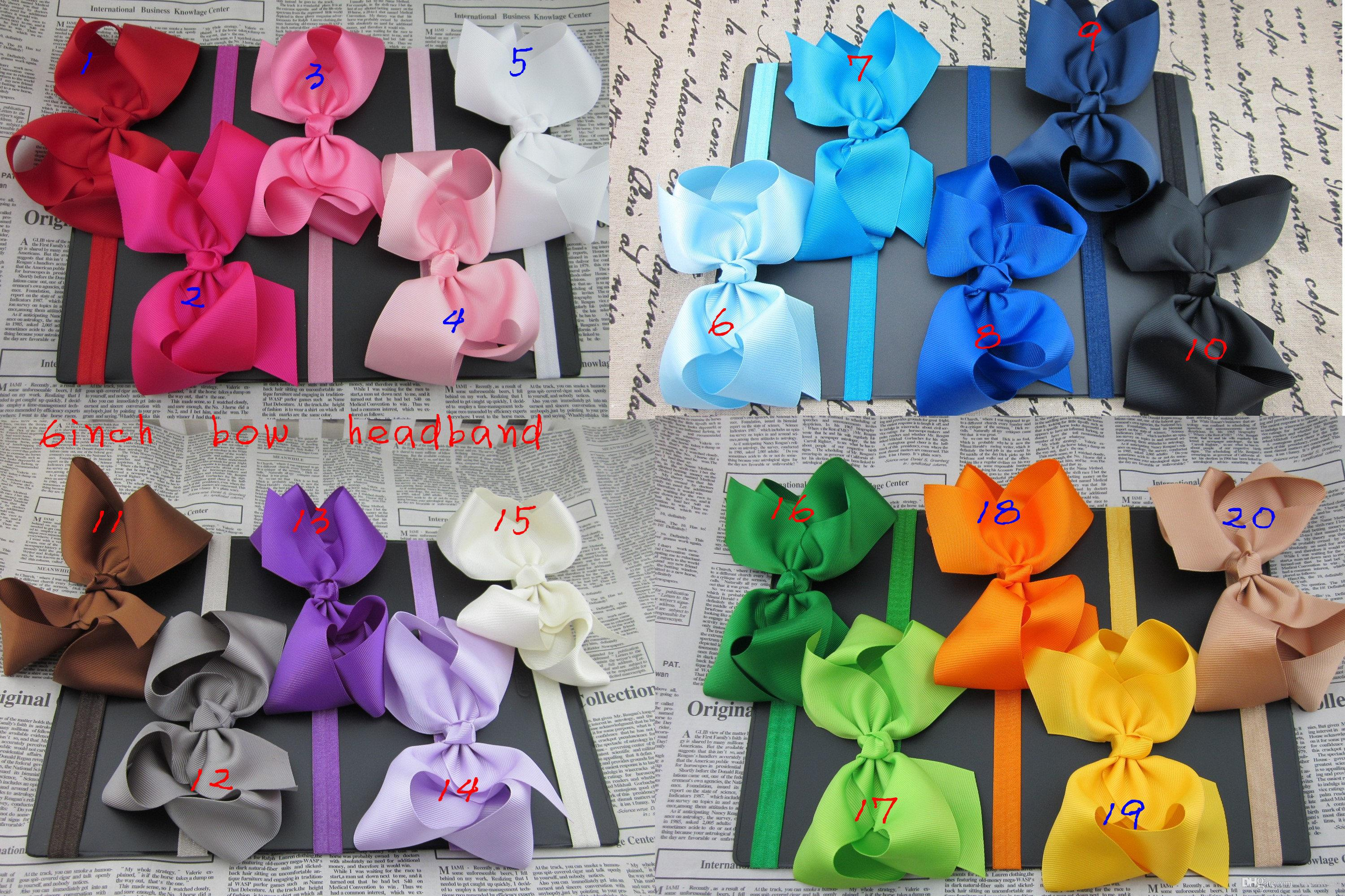 6inch big ribbon bows hair bow with soft headband,baby headband,hair accessory hairband
