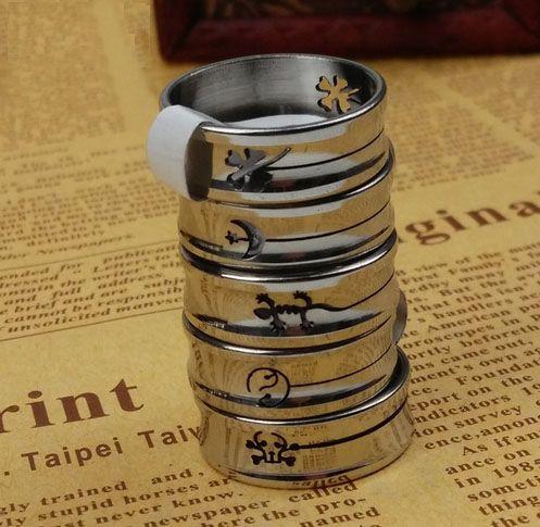 -Животноводы мужских колец кольцо из нержавеющего стали смешанными стили из нержавеющей стали ювелирных изделий Целых канавки вырезаны краткий диапазон для мужчин
