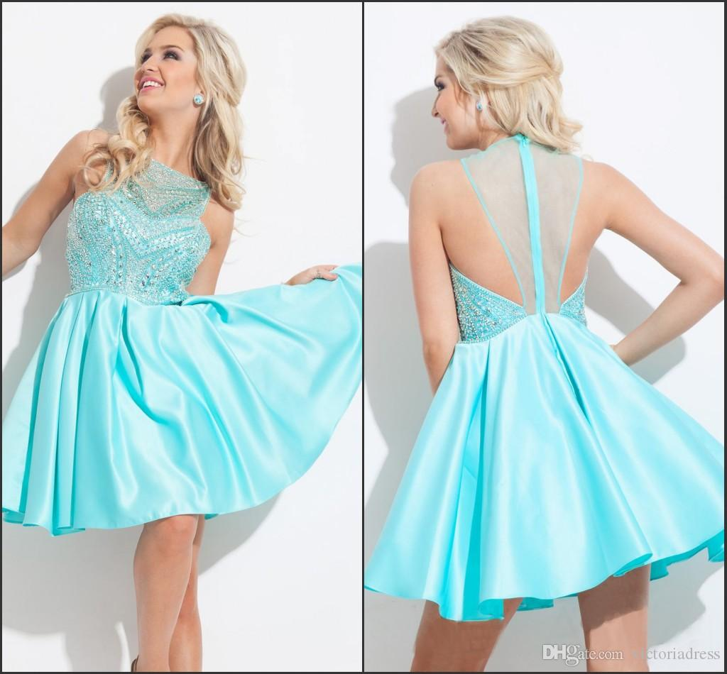 Niedlich Aqua Blue Cocktail Dress Ideen - Brautkleider Ideen ...