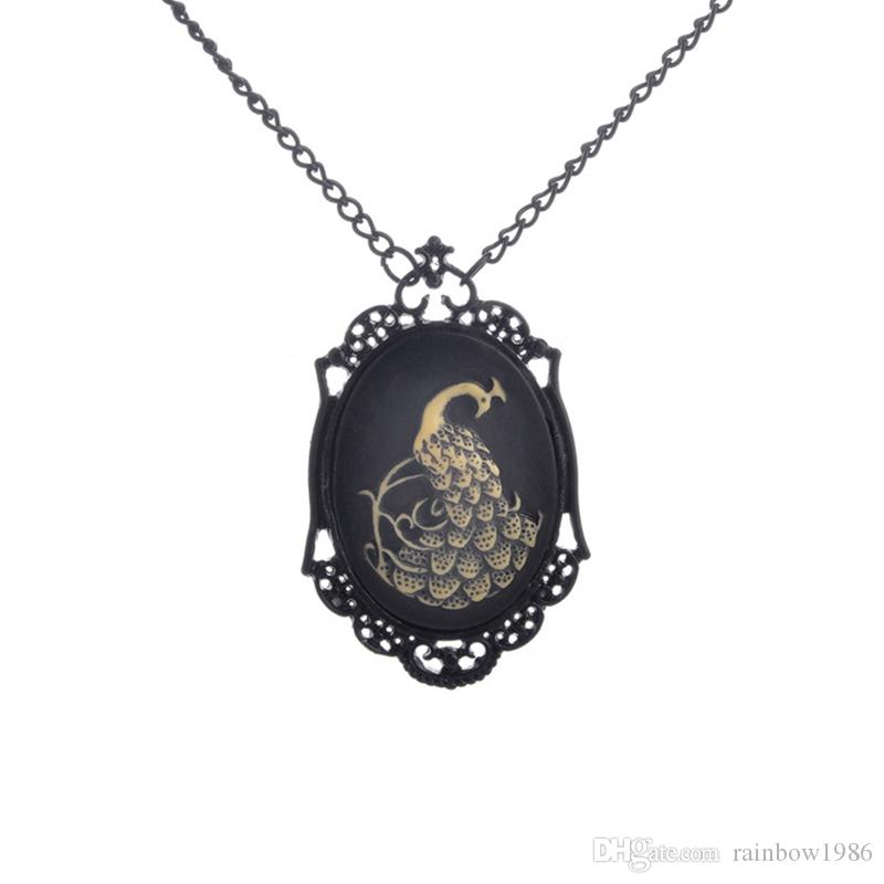cameo nocturne cat art of pendant black adornment gothic next necklace