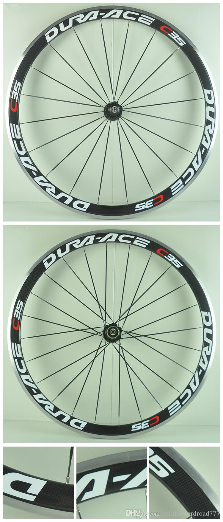 23mm width 700C38mm clincher rim alloy brake surface Road bike carbon wheelset 3K glossy carbon bicycle wheelset with ceramic bearing hubs