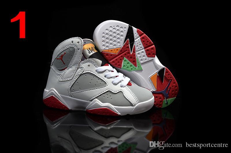 Acheter Pas Cher Chaussures En Cuir Kids Nike Air Jordan 7 Retro ...